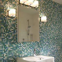 Blue Brio Mosaic Glass Tile Fresh Blend  - modwalls