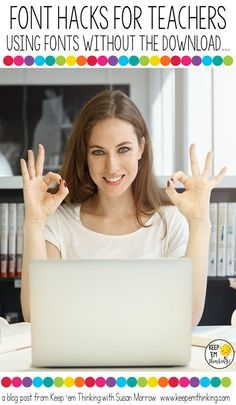 Never again worry about a computer not having the fonts you need! This fabulous FONT hack shows how you can use all you favorite fonts on ANY PC with PowerPoint or Word even if the fonts aren't installed on the computer.