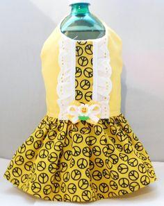 Dog Dress X Small Spring Dress Hippie