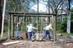 How to create natural outdoor play spaces for children.