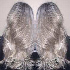Cathy Tran @prostylistcathyt Instagram photos | Websta Ash Hair, Ash Blonde Hair, Silver Blonde, Silver Hair, Hair Color And Cut, Brown Hair Colors, Brunette Hair Cuts, Rock Your Hair, Ash Blonde Balayage