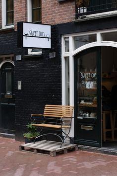 Sweet Cup: coffee and pie. Address: Lange Leidsedwarsstraat 101  Mon: 8.00-18.00, Wen-Fri: 8.00-18.00, Sat: 9.00-18.00 and Sun: 11.00-18.00 http://www.sweetcupcafe.com