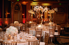 The wedding specialists at The Ritz-Carlton Orlando, Grande Lakes suggest adding gold accents to create a romantic ambiance.