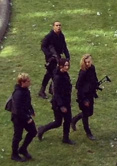 "And the gang walks along. | ""The Hunger Games: Mockingjay"" Is Filming In Paris"