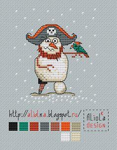 вышивка крестом снеговик схемы
