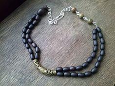 OOAK   necklace with rhyolite gemstones artisan by magyartist