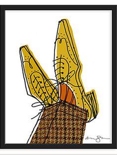 Tweed Brogues available as a giclee print thru One Kings Lane #art #print