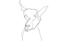 Image of Dog 10 Continuous Line Drawing