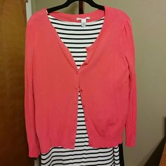 Coral cardigan Cute coral cardigan. Good condition Kenneth Cole Sweaters Cardigans
