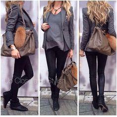 Leggings + tunique + veste cintrée