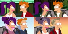 Fry and Leela Together Forever (Futurama) by Fry Futurama, Leela Futurama, Yuri, Lgbt, I Believe In Love, American Dad, Kawaii, Bobs Burgers, Adult Cartoons