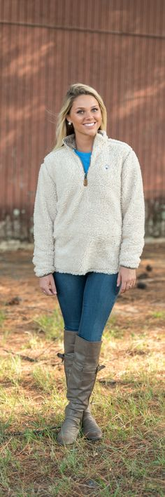 A Christmas Classic: The 1/4 Zip Sherpa Pullover #sscowishlist
