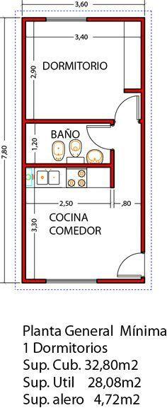 Vivienda de 1 dormitorio ampliable a 3 dormitorios en un futuro - Viviendas Tríade Studio Apartment Floor Plans, Apartment Plans, Tiny Spaces, Small Apartments, Small House Plans, House Floor Plans, Tyni House, Mini Loft, Casas Containers