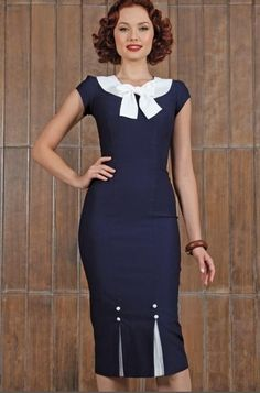 Stop Staring! First Class Navy Dress