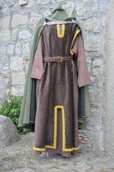 Abito-medievale-XII-secolo-Uomo-Taglia-L-Rievocazioni-storiche