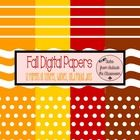 Creating fall themed items?  Looking for something to add to your clip art collection?  These digital papers are a perfect addition!  12 pages in c...