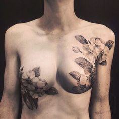 David Allen's mastectomy tattoos are some of the most elegant floral pieces on earth. He was one of our P.ink Day Milwaukee 2014 artists and we're lucky to call him a friend. Check him out at https://www.facebook.com/allentattoo and http://www.allentattoo.com.
