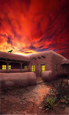 ✯ Adobe Sunset. New Mexico >>> I love it here!