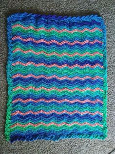 Ocean wave crochet baby blanket chevron afgan toddler blanket. The perfect gift or addition to your nursery! I love this one the most because of the color changes!
