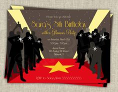 red carpet theme party ideas | Available as a DIY digital file or in printed format.