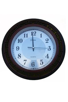 Brown Quartz Wall Clock  www.fashiongroop.com
