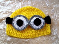Despicable me minion hand made hat. $23.00, via Etsy.