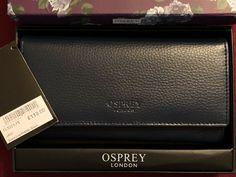 3ed8a970b Osprey London Navy Blue Leather Womens Wallet By Graeme Ellisdon #fashion  #clothing #shoes