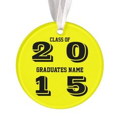 Class of 2015 Ornament by Janz Yellow and Black
