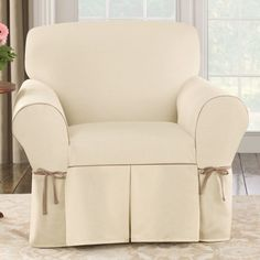 Shop for Sure Fit Contrast Cord Duck Natural Chair Slipcover. Get free delivery On EVERYTHING* Overstock - Your Online Home Decor Shop! Decor, Furniture, Slipcovers For Chairs, Chair Cushions, Club Chairs, Chair, Home Decor, Armchair, Home Decor Shops