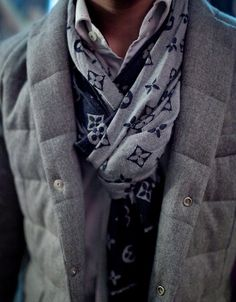 his fancy scarf