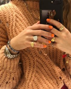 Search for Nails at SHEIN. Shop from over styles. Piercings, Cute Nails, Pretty Nails, Accesorios Casual, Jewelry Accessories, Fashion Accessories, Nail Inspo, Look Fashion, Hair And Nails