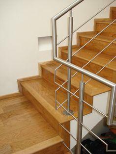 Barandal en proyecto Residencial Barandimex® Glass Stairs Design, Window Grill Design, Steel Stair Railing, Steel Stairs, Stainless Steel Railing, Design Ideas, Windows, Curtains, Home Decor