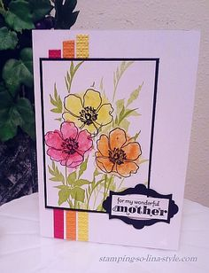 Stampin' Up! Fabulous Florets. Love the colors and watercolor look.