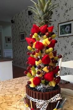 made this for my daughters birthday who loves fruit instead of a