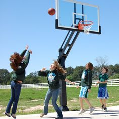 It has been a great summer for installing basketball goals, like this model from Pro Dunk Hoops - Google Search