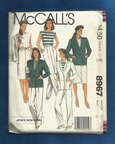 Vintage 1984 McCalls 8967 Designer Jones New by ThimbledFingerTips, $10.00