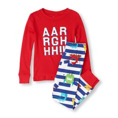 A scream-printed pj set perfect for your little monster! The Children's Place 14,97$ Feb12 2015