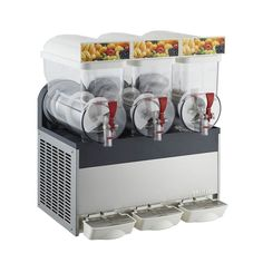 1750.00$  Watch more here - http://aiw3d.worlditems.win/all/product.php?id=32615814383 - 15L Three Tank COMMERCIAL Slushie Machine Slurpee Frozen Juice Slush Maker Granita