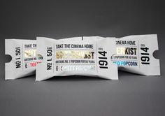 Butterkist Popcorn Packaging, interesting in the design of a cinema ticket, on Behance Popcorn Packaging, Packaging Snack, Food Packaging Design, Wine Packaging, Pretty Packaging, Packaging Design Inspiration, Brand Packaging, Graphic Design Inspiration, Print Design