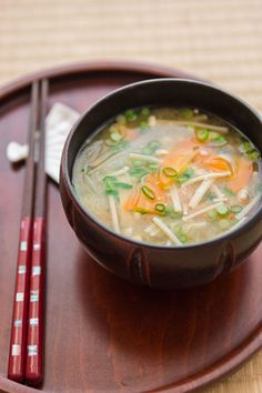 Miso Soup - Miso soup is traditionally served as a breakfast food in Japan. Mornings being a busy time in any culture, this easy soup only has a few components and comes together in under ten minutes.