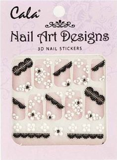 Cala Jeweled 3D Nail Art Stickers x2 Packs Flowers -86381  Aviva Nail File >>> You can get more details by clicking on the image.