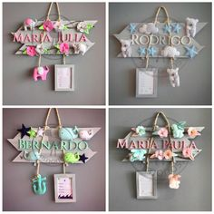 carteles con nombres de bebé