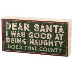 Primitives By Kathy 'Dear Santa' Box Sign