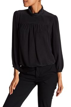 Lively Silk Turtleneck Blouse by Joie on @nordstrom_rack