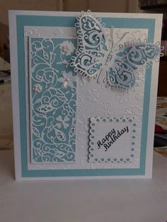 Tattered Lace birthday cards. Inspired by a card on the gallery but I don't know who by. | docrafts.com