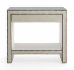 Nebraska Furniture Mart is proud to carry the Weston Nightstand from Bernhardt Furniture. The nail head trim with the Linen covered table gives this item Home Furniture Shopping, Hickory White, Bernhardt Furniture, Night Table, Nebraska Furniture Mart, Large Furniture, Furniture Storage, Regency Furniture, White Furniture