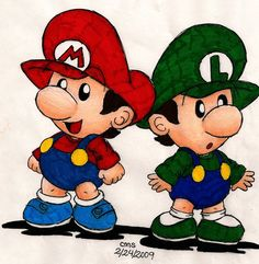 Baby Mario Bros by cmsimeon589.deviantart.com on @deviantART