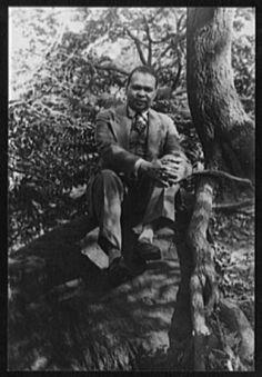 Van Vechten's Portrait of Countee Cullen, in Central Park. 1941
