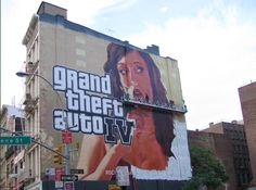 Grand Theft Auto Painted Billboard