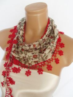 2012 summer fashion cotton scarf new design red by smilingpoet, $12.90
